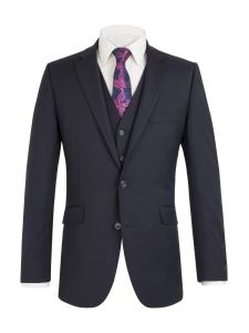 SCOTT Mens Extra Tall Wool Blend Single Breated Suit Jacket in Navy