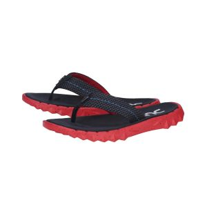 DUDE Shoes Unisex Flip-Flops Save Sox Blue Red