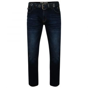 KAM Men's Extra Tall Stretch Tapered Dark Wash Jeans (Garcia)