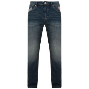 KAM Mens Regular Fit Stretch Darkwash Jeans (Ruben)