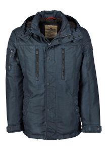Redpoint Mens Modern Parka With Wintery Lining (Malone) in Navy