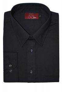 Mens Extra Tall Easy Care Poly Cotton Single Cuff Shirt