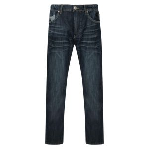 KAM Mens Regular Fit Stretch Indigowash Jeans (Rory)