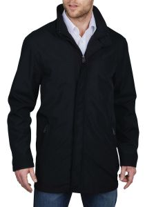 Redpoint Mens Modern Lined Car Coat (Francis) in Black