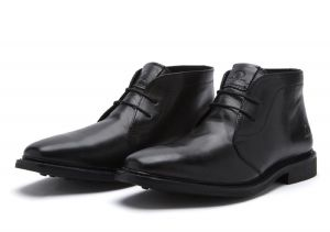 Chatham Mens Goodyear Welted Lace Up Ankle Boots (Gable) in Black