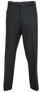Dura Press Mens Poly Viscose Formal Trousers in Charcoal