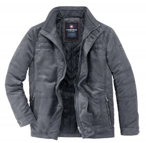 Redpoint Mens Tod Micro Suede Padded Jacket in Steel Grey