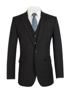 SCOTT Mens Extra Tall Wool Blend Single Breated Suit Jacket in Black
