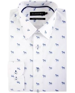 Double Two Pure Cotton Easy Care Patterned Formal Shirt (SS19)