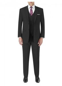 SKOPES Mens Extra Tall Darwin Black 2 Piece Suit Bundle