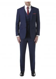 SKOPES Mens Formal Single Breasted 3 Piece Suit (Kennedy) in Royal Blue