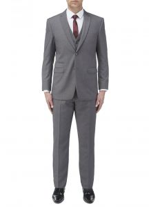 SKOPES Mens Formal Single Breasted 3 Piece Suit (Madrid) in Grey