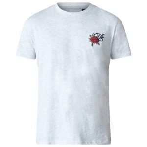 COURTNEY-D555 Couture T-shirt With Rose Chest Embroidery