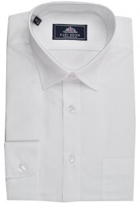 Rael Brook Mens Formal Extra Long Sleeved Dress Shirt in White
