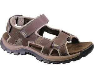 CAT Mens Wide Fit Giles Rugged And Durable Sandals in Dark Brown