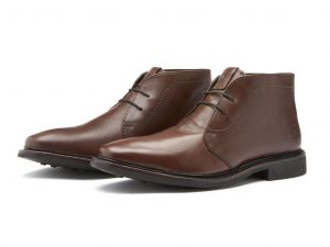 Chatham Mens Goodyear Welted Lace Up Ankle Boots (Gable) in Dark Brown