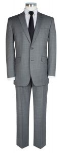 SCOTT Mens Classic Fit Light Grey 3 Piece Suit Bundle