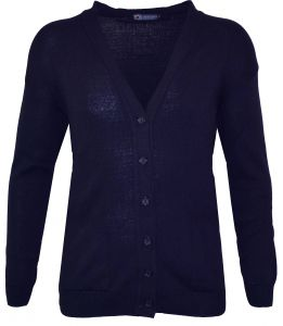 Louie James Mens Big Size 6 Button Medium Knit Cardigan in Navy in Size 2XL to 8XL