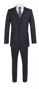 SCOTT Men's Extra Tall Wool Blend Formal 2 Piece Suit in Navy (17129) in Size 40XT to 52XT, L36