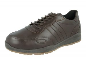 Men'S Casual Shoes (Seb)6V Wide Fit By Db Shoes in Dark Brown
