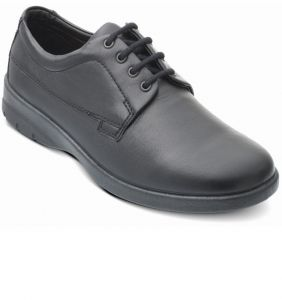 PADDERS FORMAL WIDE FIT COMFORT LEATHER LACE UP BLACK SHOES (LUNAR) IN SIZE UK6 TO UK13