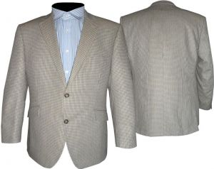 SCOTT MENS CLASSIS TAUPE STONE PUPPY TOOTH SPORTS JACKET IN SIZE 44 TO 60 SHORT, REGULAR & LONG
