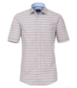 Casa Moda Premium Cotton Comfort Fit Short Sleeve Striped Shirt, Size XXL to 6XL