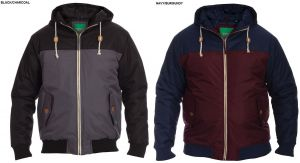 D555 MENS PADDED JACKET WITH CONTRAST PANELS (TURIN),SIZE 1XL-6XL,2 COLORS