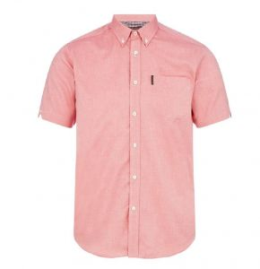 Ben Sherman Mens Big Size Short Sleeved Classic Oxford Shirt