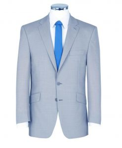 SCOTT Mens Linen Blend Summer Weight Pale Blue Suit Jacket In Size 46 to 60 Inches, S/R/L