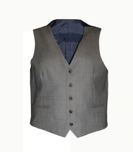 Mens Formal Semi Fitted Grey Waistcoat (Reegan) Size in 36 to 52, S/R/L