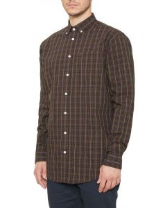 Farah Mens Cotton Buttondown Collar LS Check Shirt (Bullow), Size 2XL-5XL, 2 Options