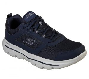 SKECHERS Men's GoWalk Evolution Ultra-Enhance Casual Shoes/Trainers in Navy/Grey