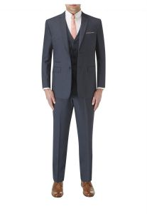 SKOPES Mens Sharpe Blue 2 Piece Single Breasted Suit