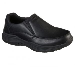 SKECHERS Men's Relaxed Fit: Expended - Helano shoe in Black
