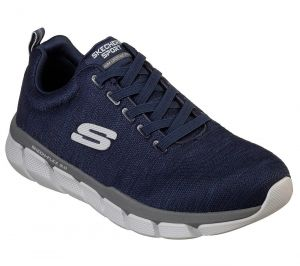 SKECHERS Men's Relaxed Fit Skech-Flex 3.0 Strongkeep Athletic Training Sneaker in Navy/Grey