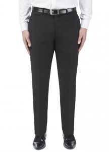 SKOPES Mens Madrid Black Formal Suit Trousers