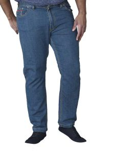 Duke London Mens Kingsize Relaxed Fit Stretch Jeans With Elasticated Waist (Bailey)