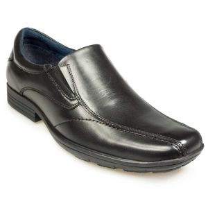 POD Mens Dundee Leather School/Work Shoes in Black