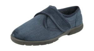 Men'S Slippers / House Shoes (Hallam)6V Wide Fit By Db Shoes in Navy