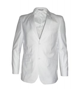 Mens Formal Semi Fitted 3 Piece Suit Combination in White (Mario)