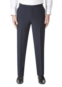SKOPES Mens Wool Blend Darwin Navy Formal Suit Trouser