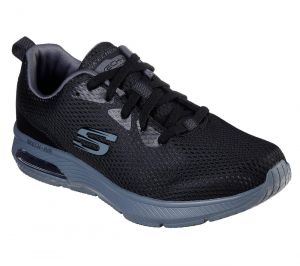 SKECHERS Men's Skech-Air: Dyna-Air Comfort Training And Walking Sneakers in Black/Charcoal