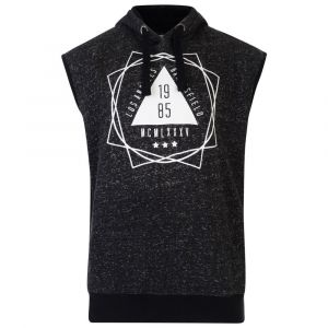 KAM Cotton Rich Pull Over Sleeveless Training Hoody in Black in Sizes 2XL to 8XL
