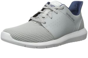 SKECHERS Men's Foreflex Laceup Athletic Walking And Training Sneaker in Grey