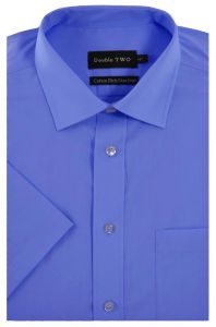 Double Two Mens Short Sleeved Non Iron (4500) Cotton Rich Shirts