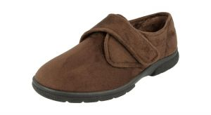 Men'S Slippers / House Shoes (Daniel)6V Wide Fit By Db Shoes in Brown