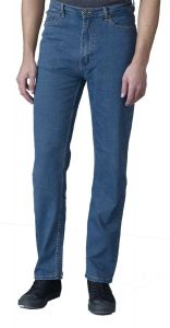 Rockford Mens Comfort Fit Stretch Jeans (Carlos) in Stonewash