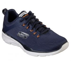SKECHERS Men's Relaxed Fit-Equalizer 3.0 Track Trainers in Navy/Orange