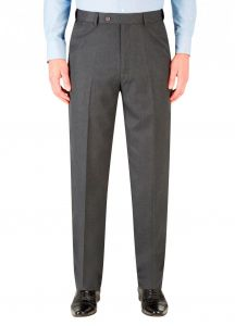SKOPES Mens Formal Ryedale Trousers in Charcoal